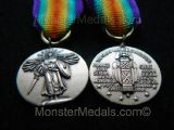 MINIATURE WW1 INTER ALLIED VICTORY MEDAL U.S.A